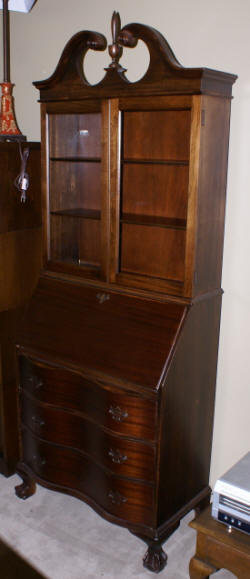 Antique Secretary Desk Mahogany SecretaryChippendale