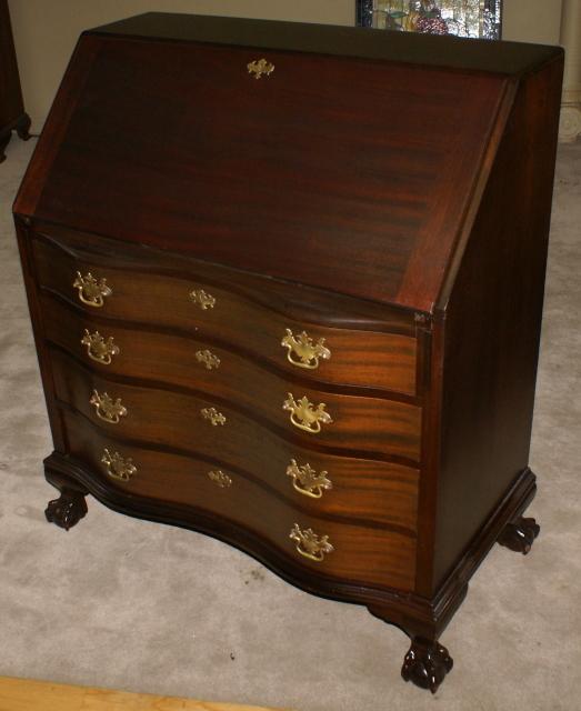 Governor Winthrop mahogany antique secretary desk