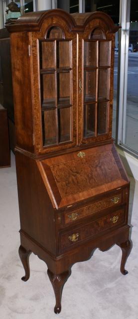nice living room sets ideas uk 2018 double bonnet top queen anne burl walnut inlaid secretary desk
