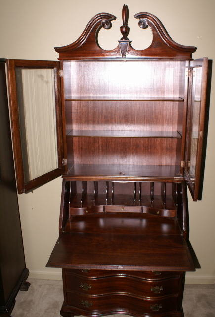 Mahogany antique Chippendale secretary desk