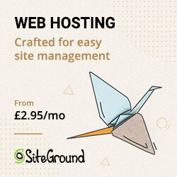 Advert for SiteGround web hosting