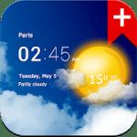Transparent clock weather Premium 1.41.02 APK Paid