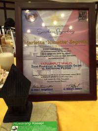 The Certificate and the Ifugao Fale/Bale Award