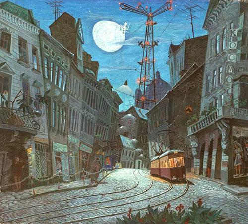 Семен Каплан - Пейзаж з луноходом, 1975