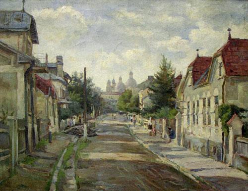 Леон Копельман - Чернівці. Вулиця, 1950-і роки