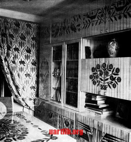 олександр Саєнко - Меблі, інкрустовані соломою, 1980