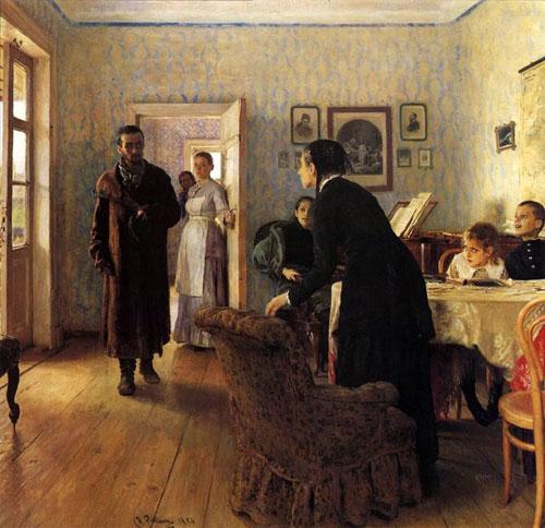 """Ілля Рєпін - """"Не ждали"""", 1888"""