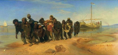 """Ілля Рєпін - """"Бурлаки на Волге"""", 1873"""