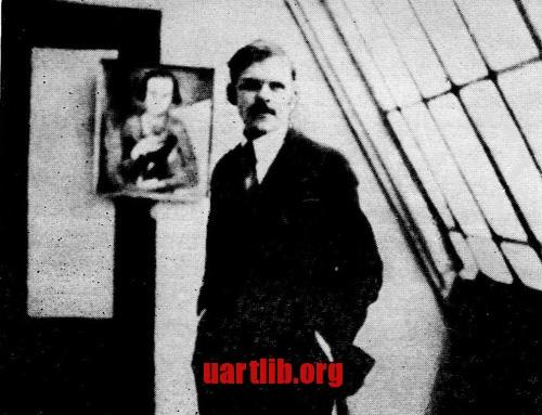 Олександр Архипенко у майстерні. Париж, 1913 рік.