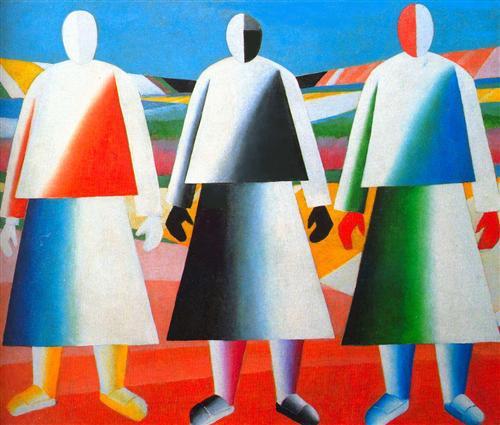 Дівчата у полі. К. Малевич (1932)
