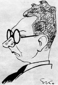 Едвард Козак. Шарж на Михайла Драгана. 1934 рік.