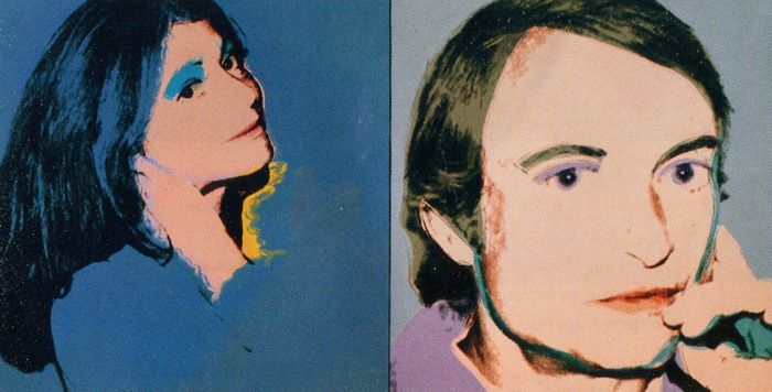 Енді Воргол. Дороті й Рой Ліхтенштейни. 1976. Шовкографія тушшю, синтетична полімерна фарба, полотно.
