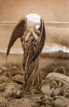 Angel na poli bitvi. 1914. Sepiya
