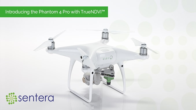Sentera adds TRUENDVI™ to DJI Phantom 4 Pro drone