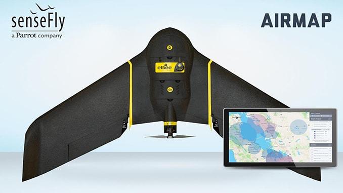AirMap and senseFly Partner