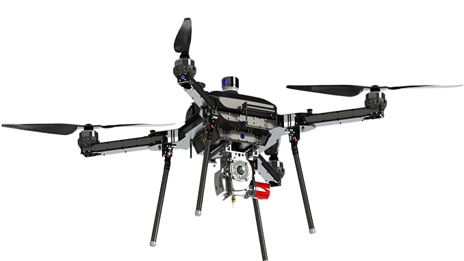 Harris Aerial Launches The Carrier H4 Hybrid Gasoline And Electricity UAS System