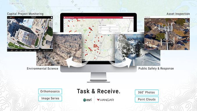 Hangar Joins Esri Startup Program to Add 'Task & Receive' Aerial Insights to ArcGIS
