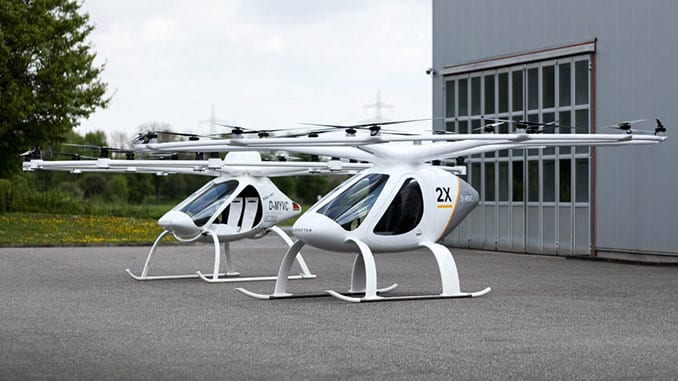 The future of taxi drones