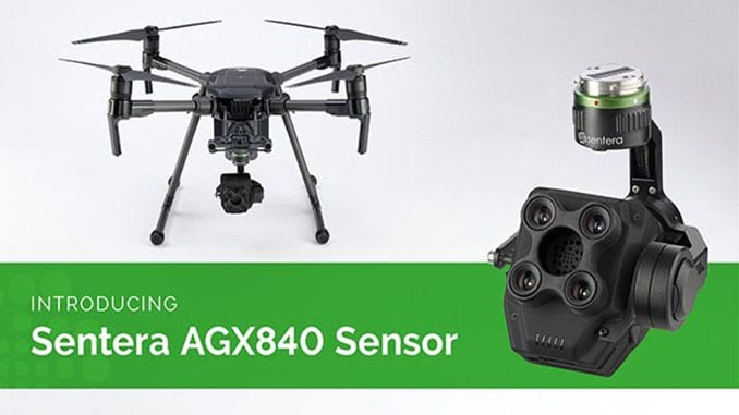 Sentera Integrates AGX840 Sensor with DJI M200 Series Drones
