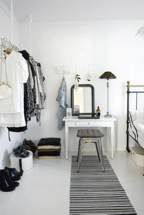Scandinavian Bedroom With Beautiful Dressing Table Decorating Ideas