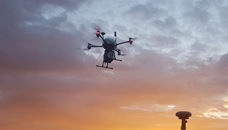 UAV lidar 3d scanning drone - LiDAR OnyxScan