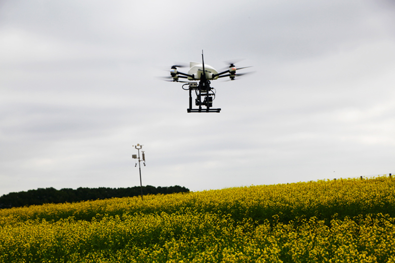 altigator thermographic survey agronomy research agriculture drone uav optris service - Prestations aériennes