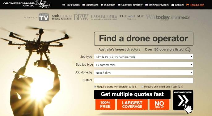 start drone business australia