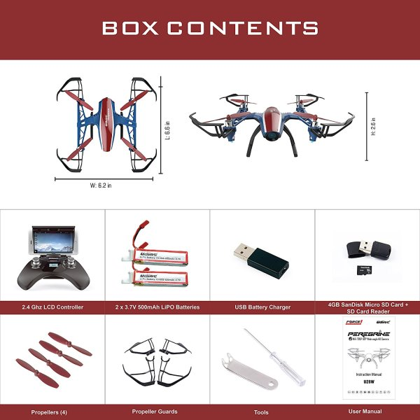 U28W Wifi FPV Drone with Altitude Hold and HD Camera