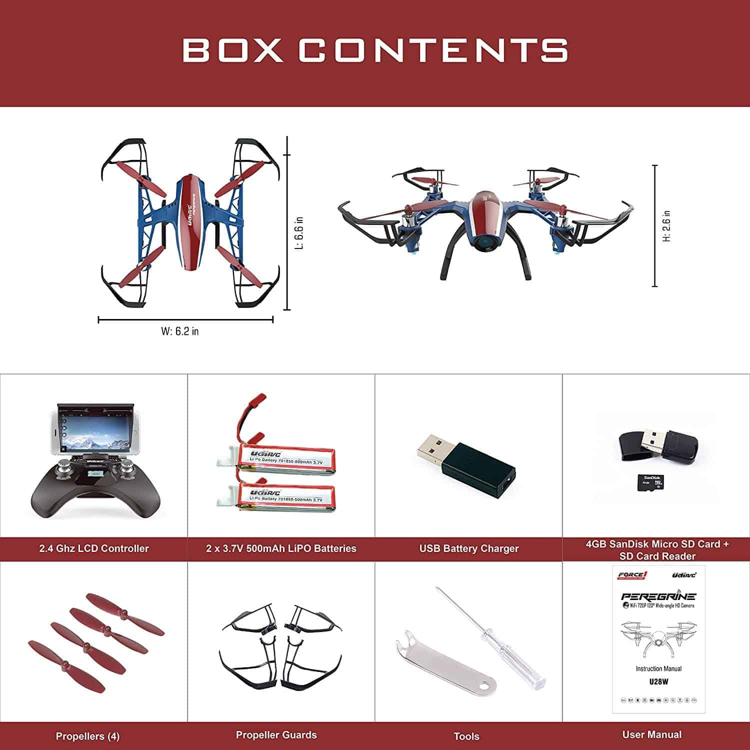 Top 17 Cheap Drones Under 180 Uav Coach 2018 Buying Guide Lipo Offers 10 Minute Flight Time Depending On The Modes U28w Wifi Fpv Drone