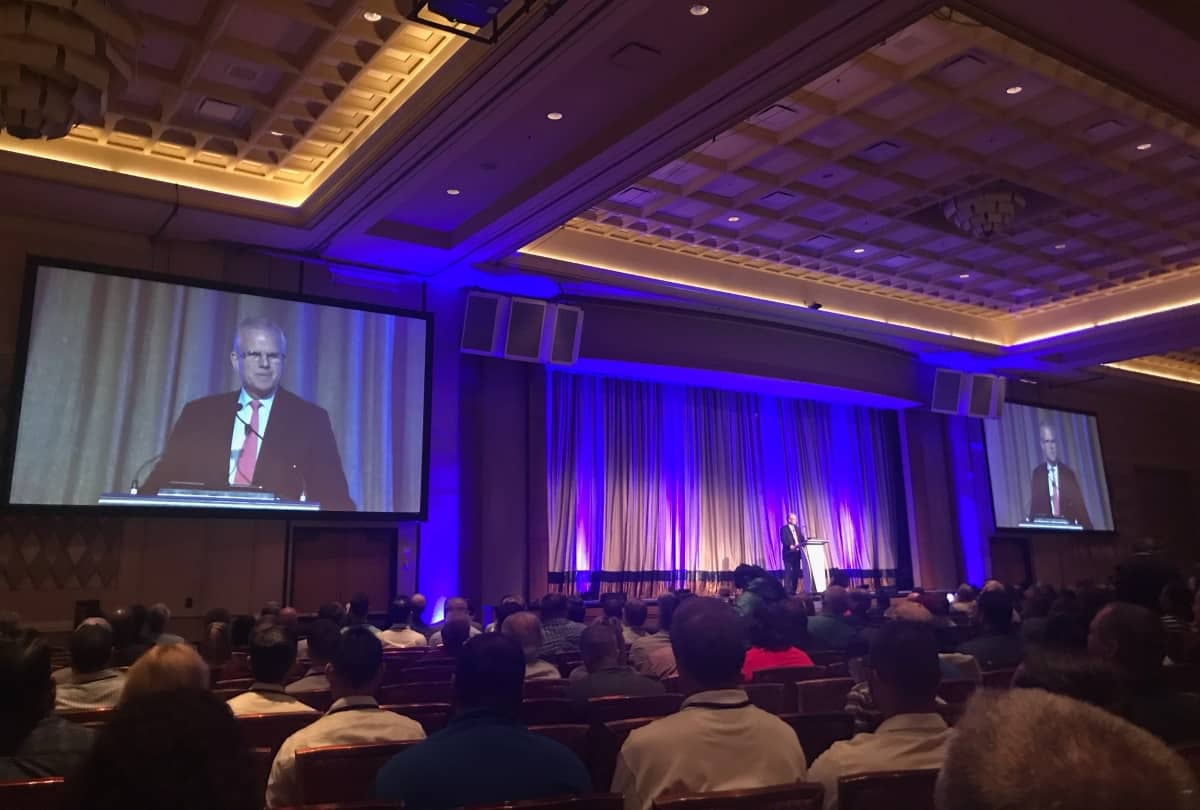 Daniel Elwell speaks at InterDrone 2018