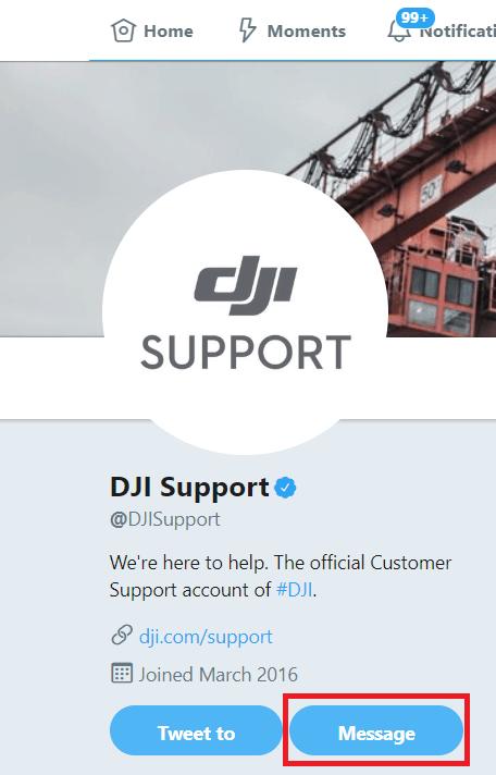DJI Support Twitter