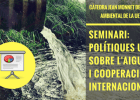"Slides on the seminar: ""EU politics on Water and International Cooperation"""