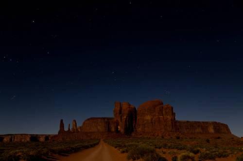 Paysage Nocturne De Monument Valley, Arizona