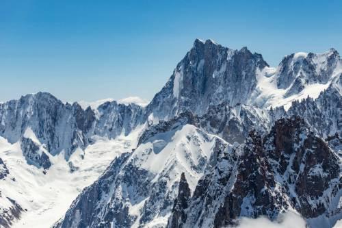 Vue Aérienne Du Paysage S'étalant Au Pied Des Grandes Jorasses, Chamonix