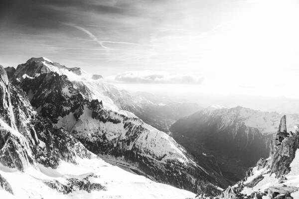 Vue Panoramique De Chamonix Depuis Les Grands Montets