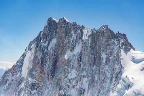 Vue Rapprochée De La Face Nord Des Grandes Jorasses, Chamonix