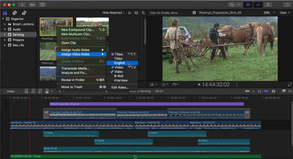 Edit video Final Cut Pro