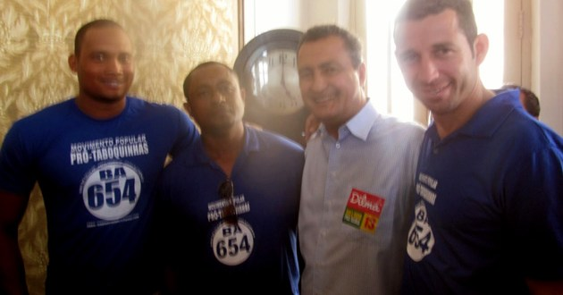 Integrantes do Movimento Popular Pró-Taboquinhas se reúnem com o governador eleito, Rui Costa
