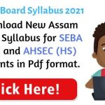 Assam Board Syllabus 2021