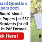 Goa Board Question Paper 2021