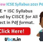 ICSE Syllabus