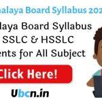 Meghalaya Board Syllabus