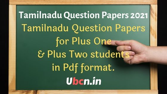 Tamilnadu State Question Papers 2021