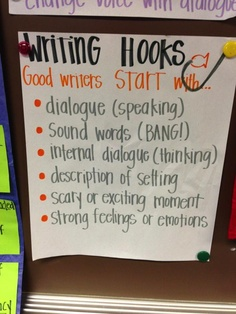 It might have come from an elementary school classroom. Who knows. But these tried and true hooks can work wonders if used in a smart, purposeful way.