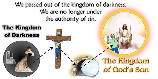 the Father who has...delivered us from the power of darkness and conveyed us into the kingdom of the Son of His love