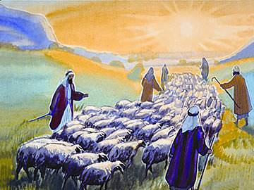 Joseph's brothers were tending their sheep in the green fields of Dothan