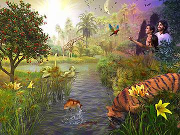 God created the first man, Adam, and placed him in the Garden of Eden.