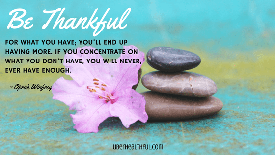 Be thankful quote by Oprah