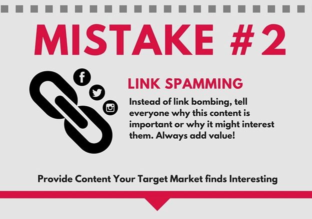 Link spamming in online home business