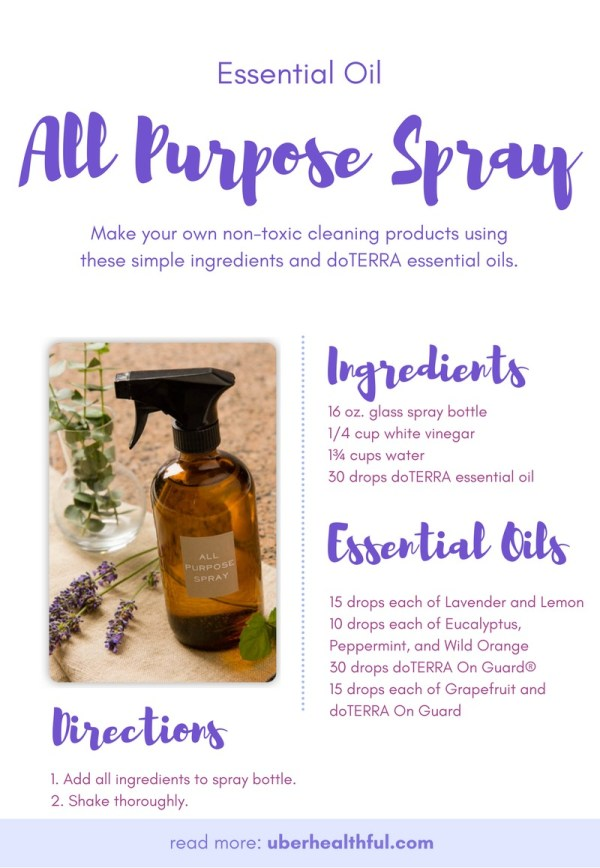 Do It Yourself natural essential oils spray cleaner